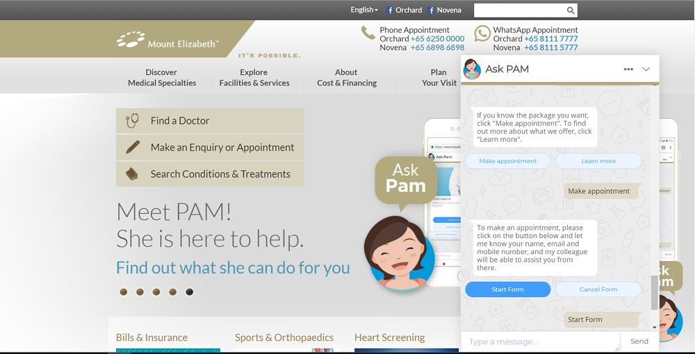 Parkway-Hospitals-Chatbot-Pam