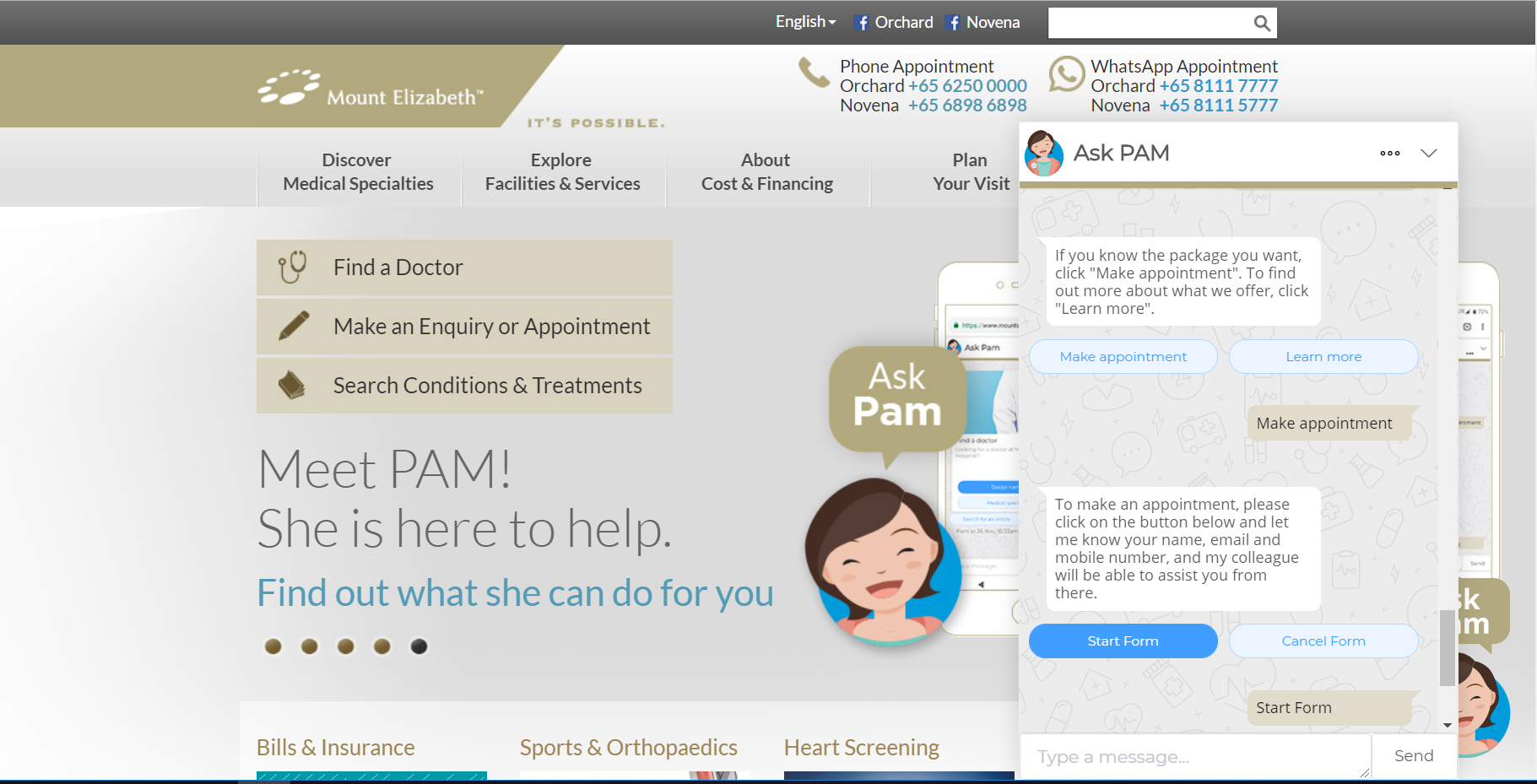 Parkway_Hospital_Chatbot_Pam